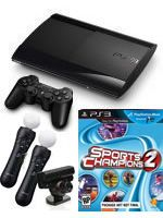 Príslušenstvo pre Playstation 3 Konzola Sony PlayStation 3 Super Slim (12GB) + Sports Champions 2 + Extra MOVE Starter Pack