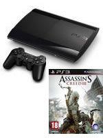 Príslušenstvo pre Playstation 3 Konzola Sony PlayStation 3 Super Slim (500GB) + Assassins Creed III