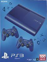 Príslušenstvo pre Playstation 3 Konzola Sony PlayStation 3 Super Slim (500GB) modrá + 2 ovládače
