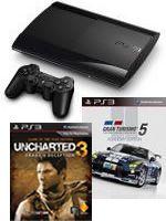 Príslušenstvo pre Playstation 3 Konzola Sony PlayStation 3 Super Slim (500GB) + Gran Turismo 5 (Academy Edition) + Uncharted 3: Drakes Deception CZ (GOTY)