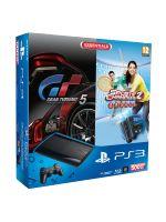 Príslušenstvo pre Playstation 3 Konzola Sony PlayStation 3 Super Slim (500GB) + 2x MOVE ovládač + kamera + Gran Turismo 5 + Sports Champions 2