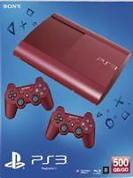 Príslušenstvo pre Playstation 3 Konzola Sony PlayStation 3 Super Slim (500GB) červená + 2 ovládače