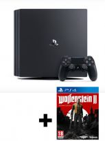 Příslušenství ke konzoli Playstation 4 Konzole PlayStation 4 Pro 1TB + Wolfenstein II: The New Colossus