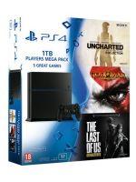 Pr�slu�enstvo ku konzole Playstation 4 PlayStation 4 (Ultimate Player 1TB Edition) - hern� konzola (1000GB) + Uncharted ND Collection + GOW III + The Last of Us