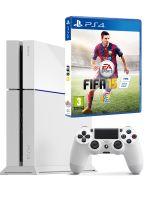 Příslušenství ke konzoli Playstation 4 PlayStation 4 - herní konzole (500GB) (ledově bílá) + FIFA 15