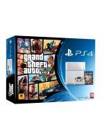 Príslušenstvo ku konzole Playstation 4 PlayStation 4 - herní konzole (500GB) (ľadovo biela) + GTA V