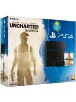 Příslušenství ke konzoli Playstation 4 PlayStation 4 - herní konzole (500GB) + Uncharted ND Collection