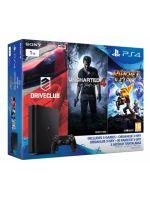 Príslušenstvo ku konzole Playstation 4 PlayStation 4 Slim - herná konzola (1TB) + Uncharted 4 + Driveclub + Ratchet & Clank