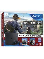 Příslušenství ke konzoli Playstation 4 PlayStation 4 Slim - herní konzole (1TB) + Watch Dogs 2 + Watch Dogs