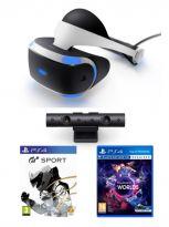 Příslušenství ke konzoli Playstation 4 PlayStation VR + kamera + Gran Turismo Sports & VR Worlds ZDARMA