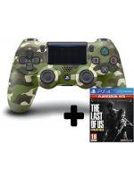 Príslušenstvo ku konzole Playstation 4 DualShock 4 ovladač - Green Cammo V2 + TLOU: Remastered