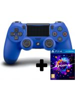 Príslušenstvo ku konzole Playstation 4 DualShock 4 ovladač - Modrý V2 + Dreams