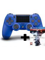 DualShock 4 ovladač - Modrý V2 + Killzone: Shadow Fall (PS4HW)