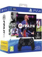 FIFA 21 + DualShock 4 ovládač čierny (PS4HW) + darček tričko