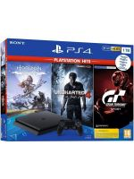 Konzola PlayStation 4 Slim 1TB + Uncharted 4, Horizon: Zero Dawn CE, Gran Turismo Sport (PS4HW)