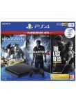Konzole PlayStation 4 Slim 1TB + Uncharted 4, The Last of Us, Horizon: Zero Dawn