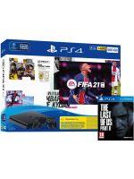 Příslušenství ke konzoli Playstation 4 Konzole PlayStation 4 Slim 500GB + FIFA 21 + TLOU2 + 2x ovladač