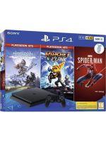 Konzola PlayStation 4 Slim 500 GB+ Spider-Man, Horizon: Zero Dawn CE, Ratchet & Clank (PS4HW)