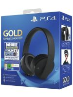 Příslušenství ke konzoli Playstation 4 Playstation Gold Wireless Headset + Fortnite (2000 V-Bucks)