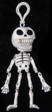 Roztomilá figurka kostlivce (bílá)