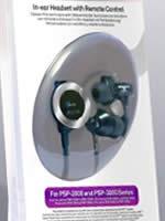Príslušenstvo pre PSP PSP slúchadlá In-Ear Headset (SONY slúchadlá s diaľkovým ovládaním)