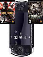 Príslušenstvo pre PSP Konzola Sony PSP-3004 (čierna) + Resistance + Killzone