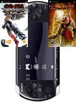 Príslušenstvo pre PSP Konzola Sony PSP-3004 (čierna) + Tekken + God of War