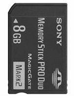 Príslušenstvo pre PSP PSP pamäťová karta SONY 8GB Memory Stick PRO Duo [Mark2] dupl
