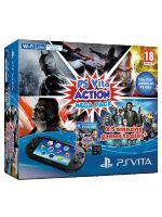 Príslušenstvo pre PS Vita Konzola PlayStation Vita Slim + karta 8GB + Action Megapack