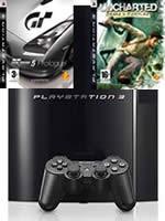 Príslušenstvo pre Playstation 3 konzola Sony PlayStation 3 (80GB) + GT5 + Uncharted