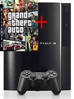 Pr�slu�enstvo pre Playstation 3 konzola Sony PlayStation 3 (80GB) + GTA IV