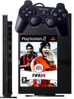 Príslušenstvo pre Playstation 2 PlayStation 2 slim (čierna) + Fifa 09