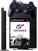 Príslušenstvo pre Playstation 2 PlayStation 2 slim (čierna) + Gran Turismo 4 + DualShock 2 + 8MB pamätová karta