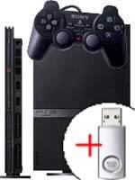 Príslušenstvo pre Playstation 2 PlayStation 2 mini + SONY Flash USB 512MB