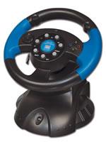 Príslušenstvo pre Playstation 2 volant Speed-Link 4 in 1 blue lightning racing wheel