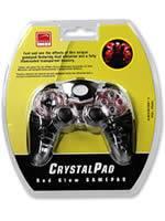 Pr�slu�enstvo pre Playstation 2 gamepad PS2 Speedlink CrystalPad - Red Glow