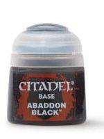 Stolová hra Citadel Base Paint (Abaddon Black) - základná farba, čierna