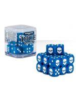 Stolní hra kostky Warhammer Dice Cube (20 ks), šestistěnné - modré