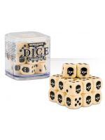 Stolní hra kostky Warhammer Dice Cube (20 ks), šestistěnné - krémové