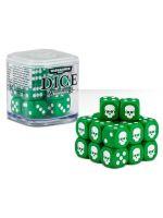 Kocky Warhammer Dice Cube (20ks), šesťstenné - zelené (STHRY)