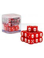 Stolová hra Kocky Warhammer Dice Cube (20ks), šesťstenné - červené