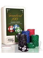 Stolová hra Poker set - 100 žetónov s hodnotou (7,5g)