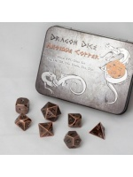Set herných kociek Metal Dice Set: Antique Copper (STHRY)
