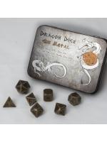 Stolní hra Set hracích kostek Metal Dice Set: Gun Metal