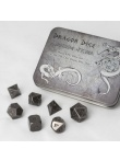 Set herných kociek Metal Dice Set: Antique Silver
