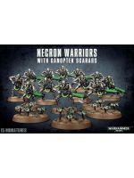 Stolová hra W40k: Necron Warriors + Canoptek Scarabs (12+3 figúrky)