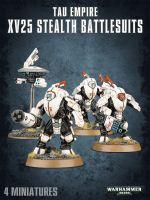 Stolní hra W40k: Tau Empire XV25 Stealth Battlesuits (3 figurky)