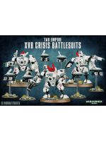 Stolní hra W40k: Tau Empire XV8 Crisis Battlesuits (3+6 figurek)