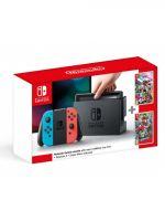 Konzole Nintendo Switch a příslušenství Konzole Nintendo Switch - Neon Red/Neon Blue + Super Mario Odyssey + Splatoon 2