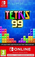 hra pre Nintendo Switch Tetris 99 + 12 mesiacov Nintendo Online